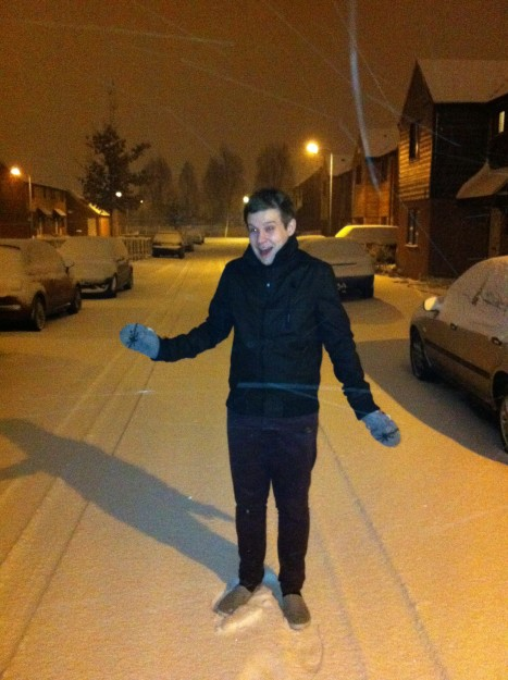 Nigel in the Snow