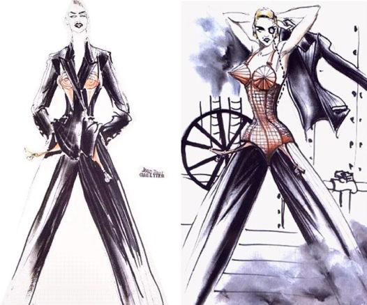 Madonna JPG Sketch for Blond Ambition Tour