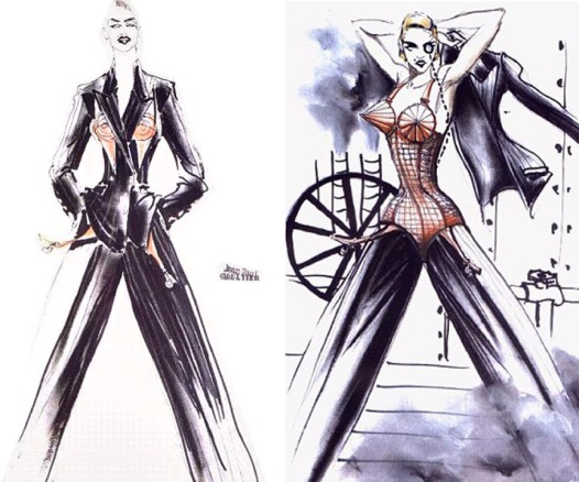Madonna JPG Sketch for Blond Ambition Tour