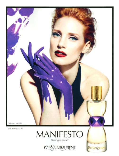 Jessica Chastain looks good in EVERYTHING, even purple paint...