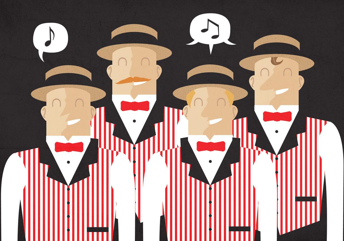 Barber Quartet : ... Perfume Boy?s Movember Barbershop Quartet The Candy Perfume Boy