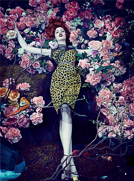 Hothouse Flowers by Steven Klein for Vogue January 2013