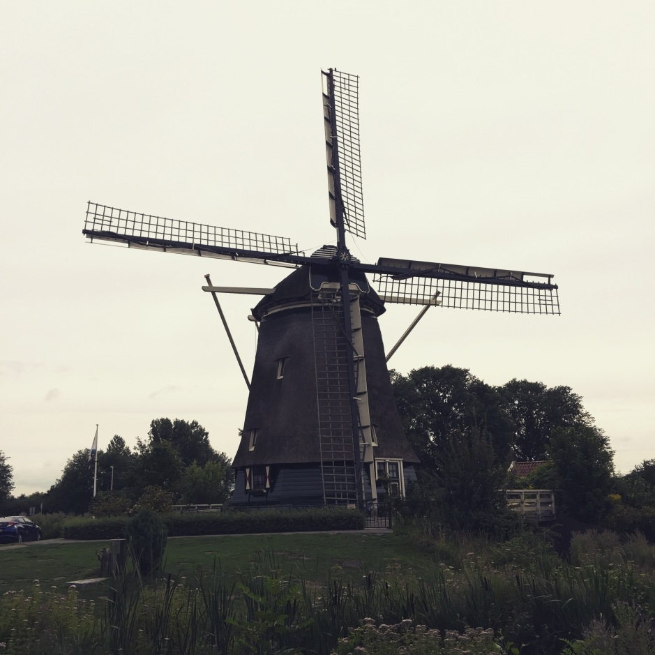 """A traditional Dutch windmill. It's now a house! I can't smell anything but I'm imagining dry hay because of the thatched roof #ScentedStories #Amsterdam"""