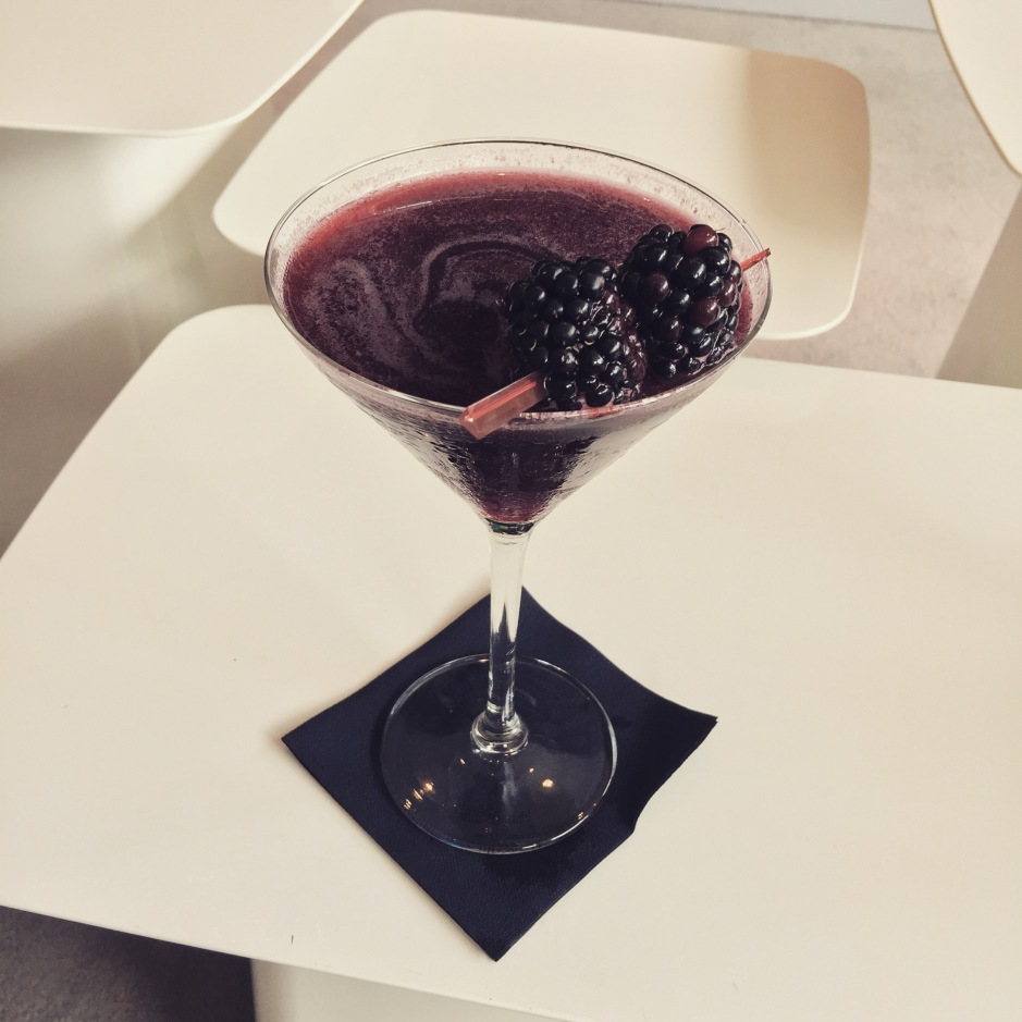 """Our Scented Story of #Amsterdam is almost over and @nigeldunckley, and I are celebrating the end of a fantastic trip with a complimentary cocktail at our hotel (what could be better than free alcohol?!) #ScentedStories #BlackberryDaiquiri"""