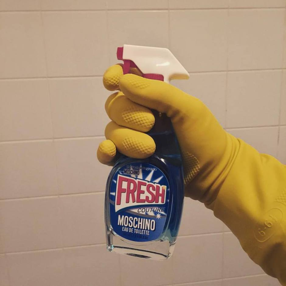 When I clean, I only use MOSCHINO...