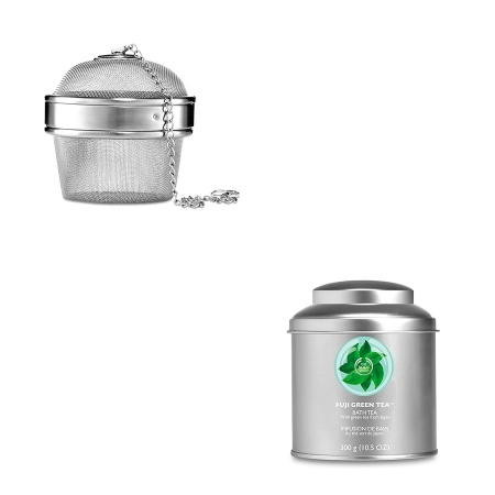 Fuji Green Tea Bath Tea & Bath Infuser [Image: The Body Shop]